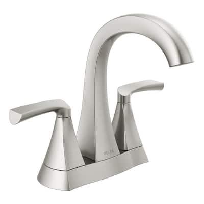 Pierce 4 in. Centerset 2-Handle Bathroom Faucet in SpotShield Brushed Nickel