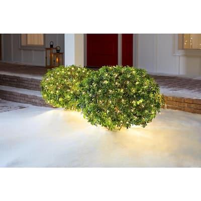48 in. x 72 in. 150-Light Mini Warm White Smooth Net Cap Lights