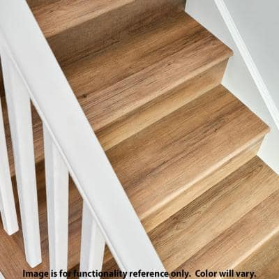 Whimbrel Oak 1.32 in. T x 1.88 in. W x 78.7 in. L Vinyl Stair Nose Molding