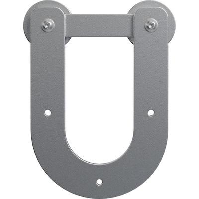 1-1/4 in. x 6 in. x 8-3/4 in. Steel Economy Horseshoe Silent Roller Hanger Moulding Silver Metallic