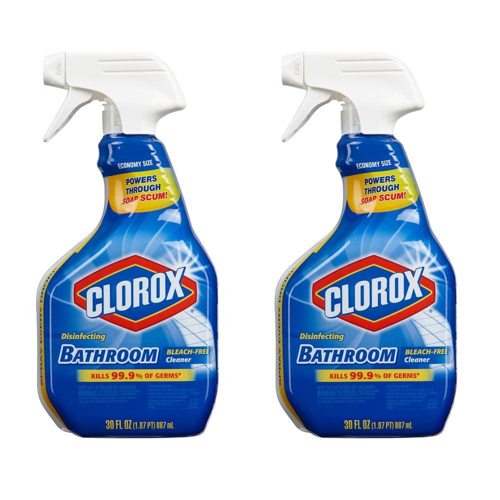 Clorox 30 Oz Disinfecting Bleach Free Bathroom Cleaner 2 Pack C 308607446 The Home Depot