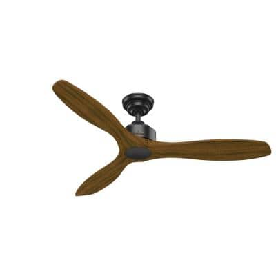 Melbourne 52 in. Indoor Matte Black Ceiling Fan with Wall Control