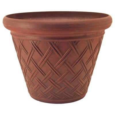 Basket Weave 18 in. x 14 in. Terra Cotta PSW Pot