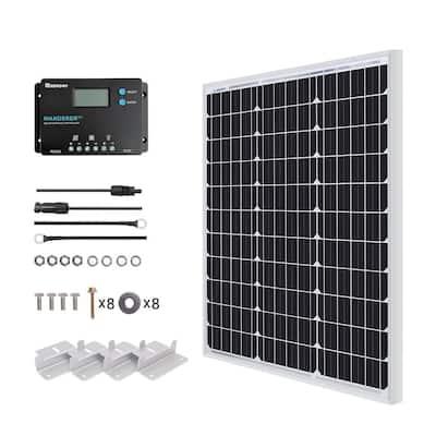 50 Watt 12-Volt Monocrystalline Solar Panel Starter Kit