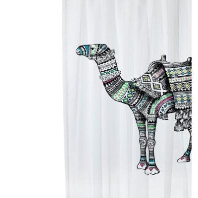 72 in. White Camel Shower Curtain