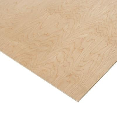 1/4 in. x 2 ft. x 8 ft. PureBond Prefinished Maple Project Panel (Free Custom Cut Available)
