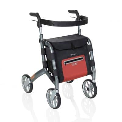 4-Wheels Let's Shop Rollator with in Gray