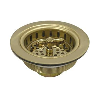 Tacoma 4-1/2 in. Stainless Steel Spin and Seal Sink Basket Strainer in Polished Brass