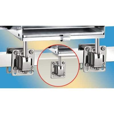 Dual Square/Flat or Side Bulkhead Rail Mount HD for All ChefsMate, Newport, Catalina, Monterey Grills