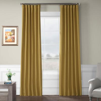 Trinket Gold Rod Pocket Blackout Curtain - 50 in. W x 84 in. L