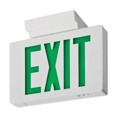 Signature Die-Cast Single Face Green LED Aluminum Exit Sign