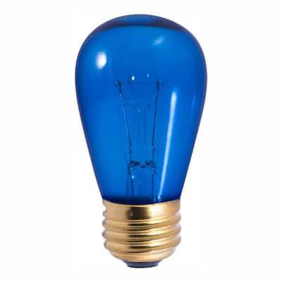 11-Watt S14 Transparent Blue Dimmable Incandescent Light Bulb (25-Pack)