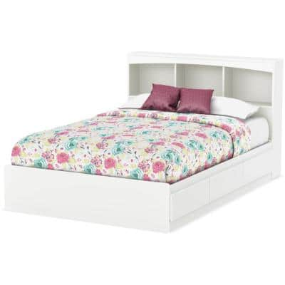 Step One 3-Drawer Pure White Full-Size Storage Bed