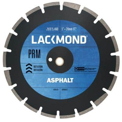 PRM Series Asphalt/Block Blade 16 in. x 0.125 in. - 1 in. 20 mm Arbor