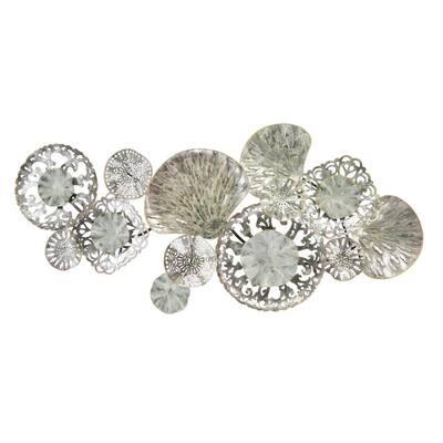 Silver Seashells Metal Mixed Media Wall Art