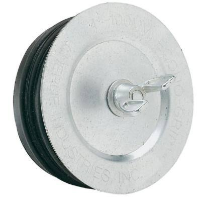 Econo-Grip 4 in. Galvanized Steel Test Plug