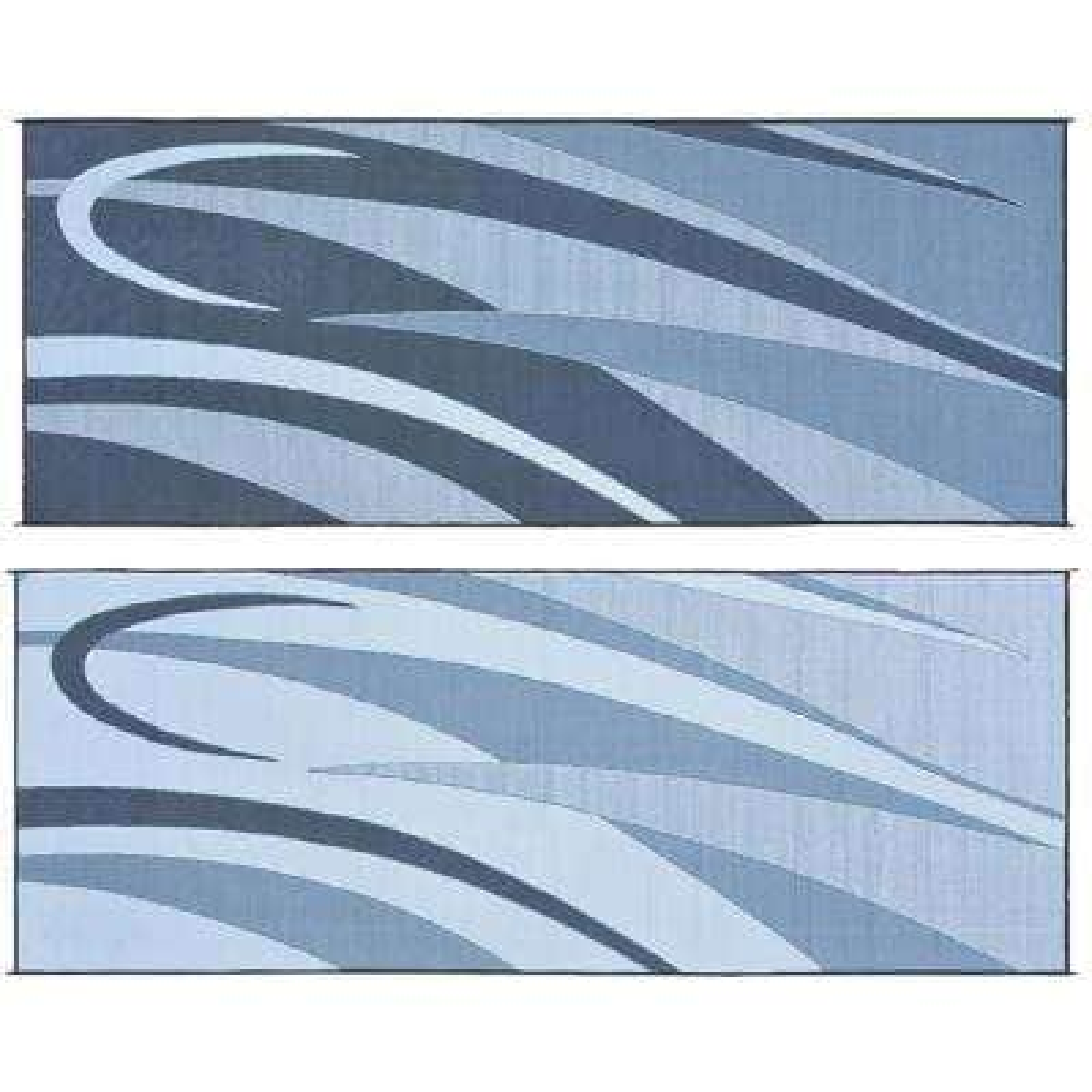 8 ft. x 20 ft. Graphic Black/Silver Reversible Mat