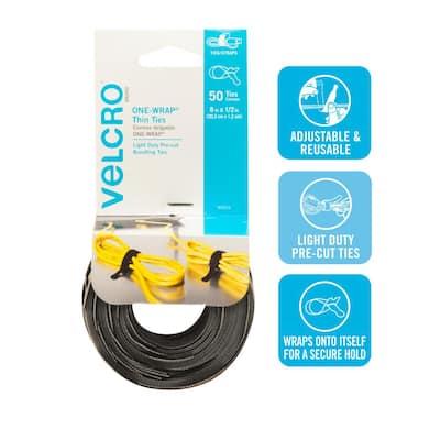 8 in. x 1/2 in. Reusable Ties (50-Pack)