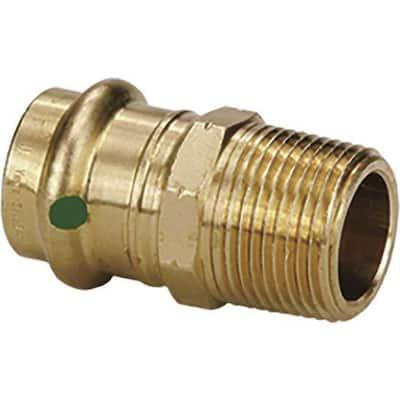 ProPress 1/2 in. Press x 1/2 in. MPT Zero-Lead Bronze Adapter Fitting