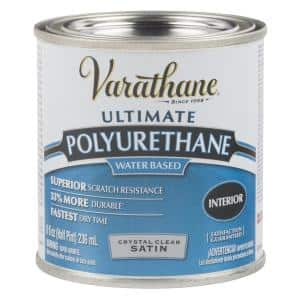8 oz. Clear Satin Water-Based Interior Polyurethane (4-Pack)