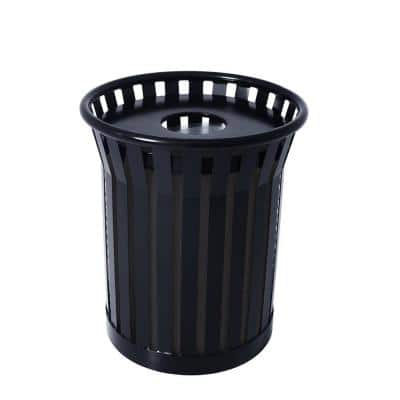 Jackson Receptacle with Flat Top Lid in Black