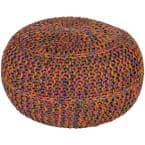 Kylie Mustard Accent Pouf