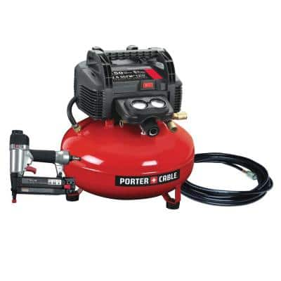6 Gal. 150 PSI Portable Electric Air Compressor and 18-Gauge Brad Nailer Combo Kit (1-Tool)