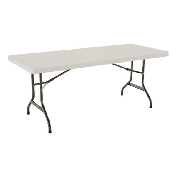 Lifetime 6 Ft Almond Resin Commercial Folding Table 2900 The Home Depot