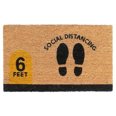 Natural 18 in. x 30 in. Social Distancing Door Mat