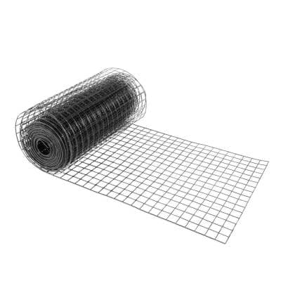 4 ft. x 50 ft. 16-Gauge Black PVC Coated Welded Wire Mesh Size 1.5 in. x 1.5 in.