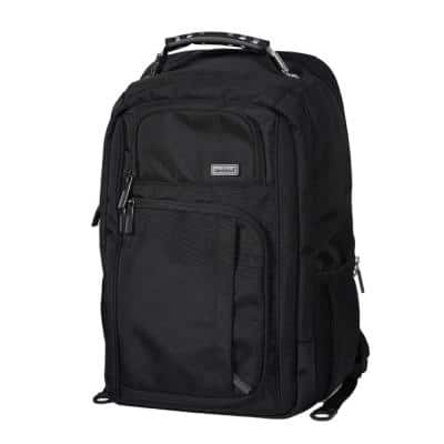 19 in. Black Professional USB Laptop Backpack