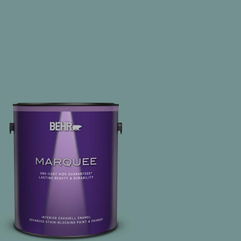 Behr Marquee 1 Gal Ppu12 03 Dragonfly One Coat Hide Eggshell Enamel Interior Paint Primer 245401 The Home Depot