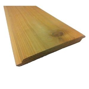 Pattern Stock 1 in. x 8 in. x 8 ft. Cedar STK Shiplap Siding (6-Pack)