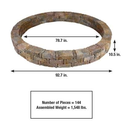 RumbleStone 93 in. x 10.5 in. Tree Ring Kit in Sierra Blend
