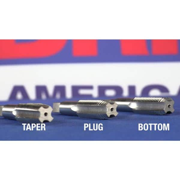 """Pack of 1 Drill America 1//2/""""-27 UNS High Speed Steel Plug Tap,"""