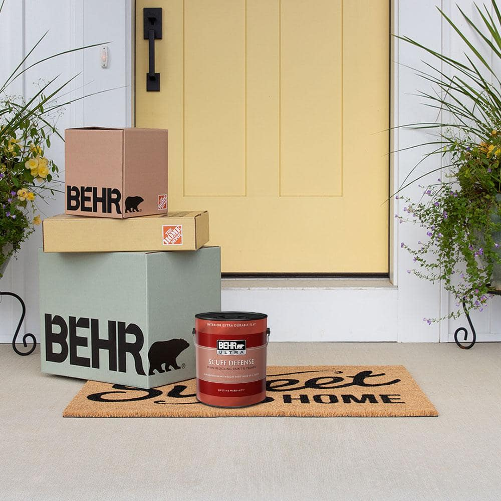 Behr 1 Gal N460 3 Lunar Surface Ultra Extra Durable Flat Interior Paint And 5 Piece Wooster Set All In One Project Kit Bx002736 The Home Depot