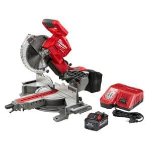 M18 Fuel 18-Volt 10 in. Lithium-Ion Brushless Cordless Dual Bevel Sliding Compound Miter Saw Kit with One 8.0 Ah Battery