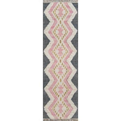 Indio Beverly Pink 2 ft. 3 in. x 7 ft. 10 in. Runner Rug