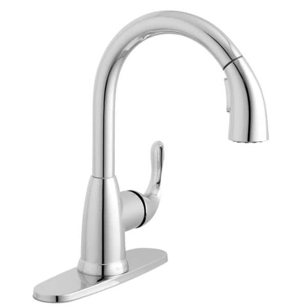 Reviews For Glacier Bay Dylan Single Handle Pull Down Kitchen Faucet With Turbospray And Fastmount In Chrome Hd67496 1001 The Home Depot