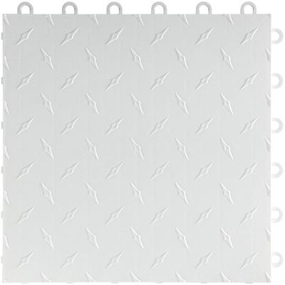 12 in x 12 in. Artic White Diamondtrax Home Modular Polypropylene Flooring 50-Tile Pack (50 sq. ft.)