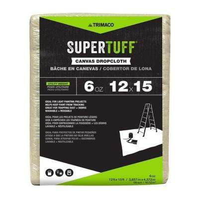 6 oz. 12 ft. x 15 ft. Utility Weight Canvas Drop Cloth