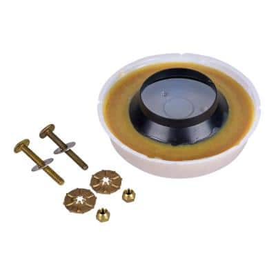 Johni-Ring 3 in. - 4 in. Standard Toilet Wax Ring and Johni-Quick Brass Toilet Bolts