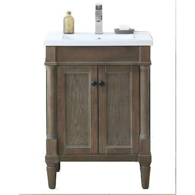 Single Sink 24 Inch Vanities Wood Bathroom Vanities Bath The Home Depot