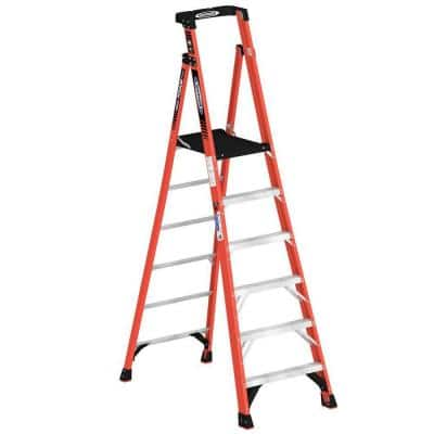 6 ft. Fiberglass Podium Step Ladder ( 12 ft. Reach Height) with 300 lbs. Load Capacity Type IA Duty Rating