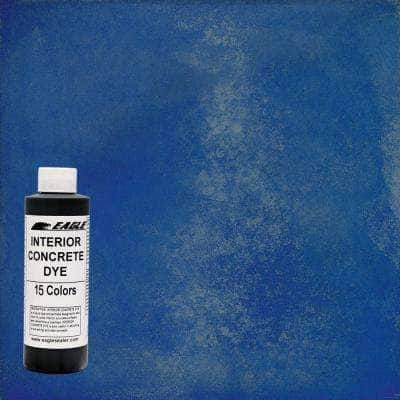1 gal. Blue Poppy Interior Concrete Dye Stain Makes with Water from 8 oz. Concentrate