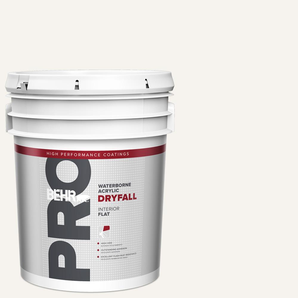 5 gal. White Flat Waterborne Acrylic Dryfall Interior Paint