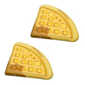 Yellow Vinyl Triangle Inflatable Waffle Floating Lounger Raft Mat for Swimming Pool (2-Pack)