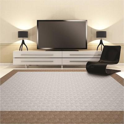 Premium Self-Stick First Impressions City Block Dove Texture 24 in. x 24 in. Carpet Tile (15 Tiles/Case)