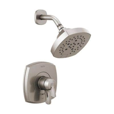 Stryke 1-Handle Wall Mount 5-Spray Shower Faucet Trim Kit in Stainless (Valve Not Included)