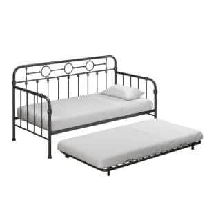 Willow Kids' Black Metal Daybed with Trundle